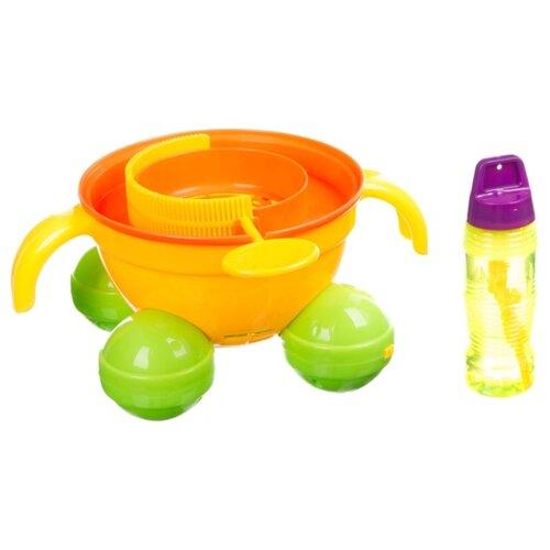 Машина для мыльных пузырей Yako Солнечное лето - Каталка, 115 мл M9676 оранжевый/желтый/зеленый шторы рулонные ролло идея рулонная штора ролло lux samba цветы зеленый оранжевый желтый 160 см