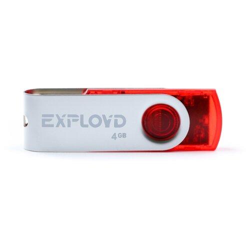 Купить Флешка EXPLOYD 530 4GB red