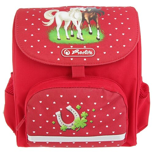 Herlitz Ранец Mini Softbag Horses, красный herlitz рюкзак herlitz ultimate horses