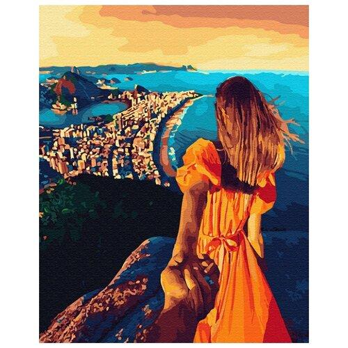 Купить Картина по номерам ВанГогВоМне ZX 23351 Следуй за мной. Городок на побережье 40х50 см, Картины по номерам и контурам