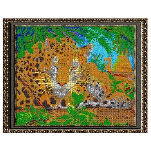 Светлица Набор для вышивания бисером Леопард 38 х 30 см (424П)