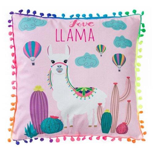 Чехол для подушки Крошка Я Лама 40 х 40 см розовый