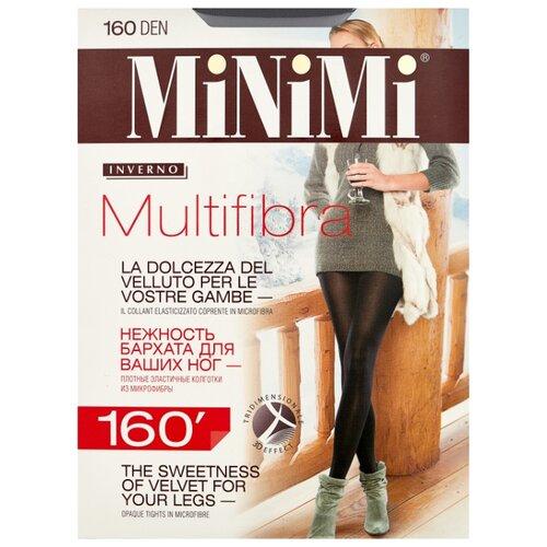 Колготки MiNiMi Multifibra 160 den, размер 2-S/M, fumo (серый) колготки minimi lanacotone 180 den размер 2 s m fumo серый