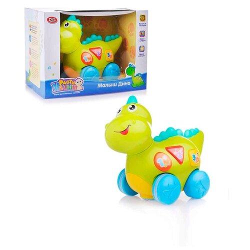 Купить Детская развивающая музыкальная игрушка для малышей PlaySmart Динозаврик, зеленый, Play Smart, Развивающие игрушки