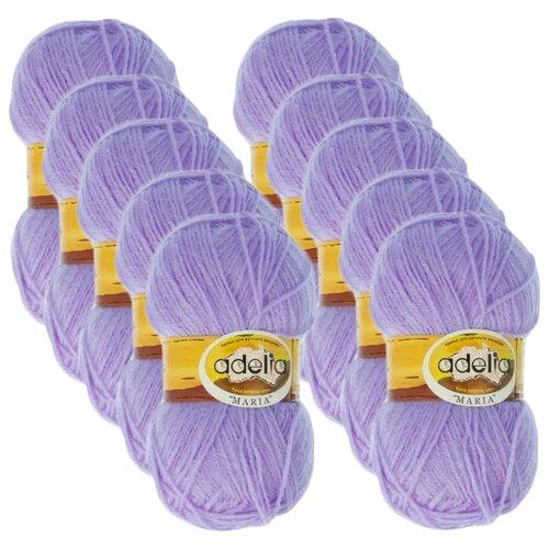 Купить Пряжа Adelia Maria, 100 % акрил, 50 г, 227 м, 10 шт., №10 фиолетовый