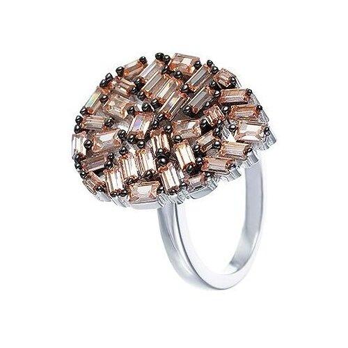 JV Кольцо с фианитами из серебра SY-355037-R-003-WG, размер 17 jv кольцо с фианитами из серебра sy 355491 r 003 wg размер 18 5