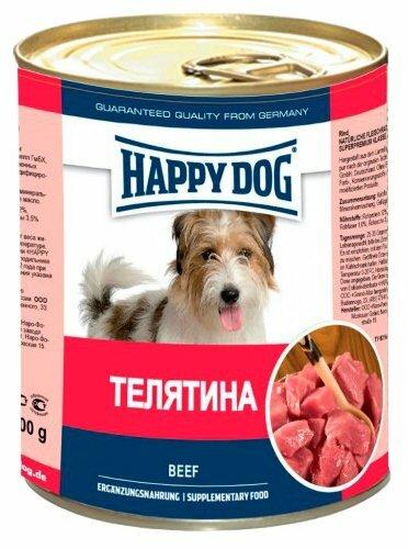 Корм для собак Happy Dog телятина 400г