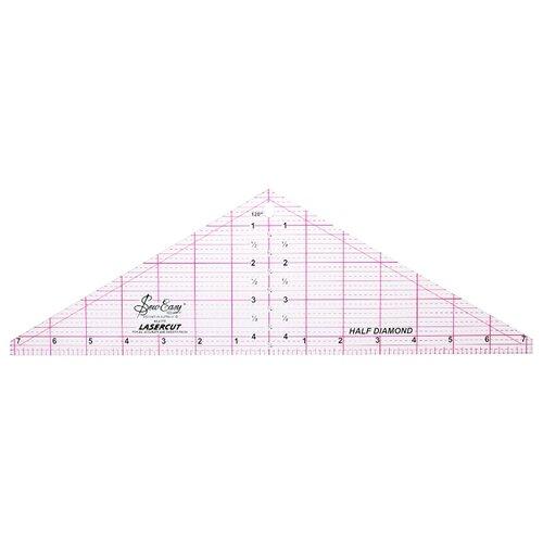 Купить Hemline Линейка для пэчворка Sew Easy NL4175 треугольник 120°, 14.5 x 4.5 дюймов прозрачный, Инструменты и аксессуары