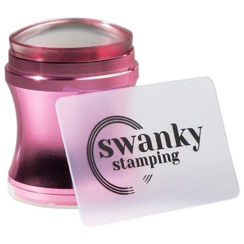 Купить Набор Swanky Stamping круглый штамп, 4 см + скребок SSSH03 розовый