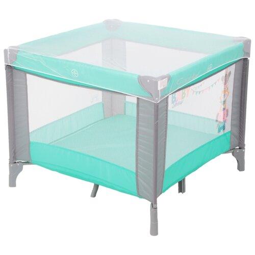Купить Манеж-кровать Capella Sweet Time Zoo B/S blue, Манежи