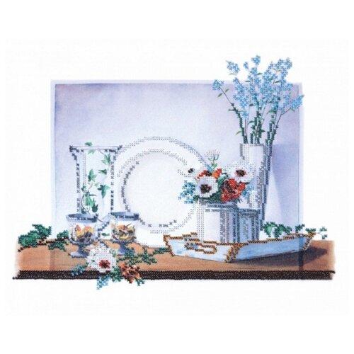 Купить Натюрморт на белом-2 набор габардин+бисер 35х30 Овен 004-РТ, Наборы для вышивания