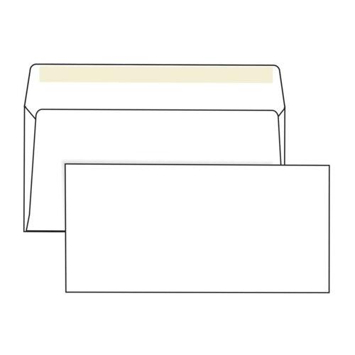 Купить Конверты Е65 (110х220 мм), клей, 80 г/м2, КОМПЛЕКТ 1000 шт., Ряжская печатная фабрика