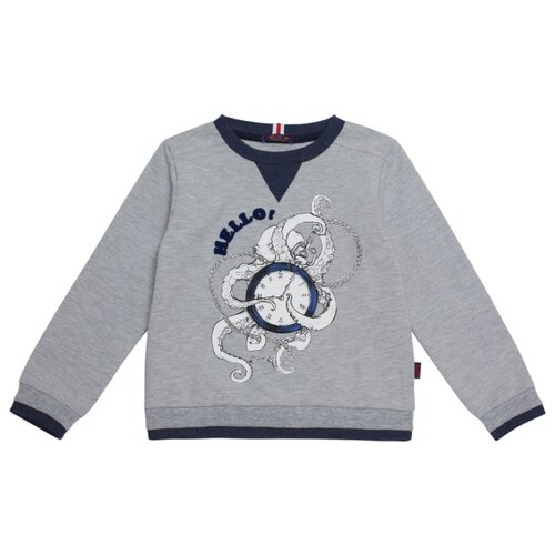 Фото - Свитшот Chinzari размер 128/134, серый меланж chinzari платье chinzari детское трикотажное италия рыбки 128 134