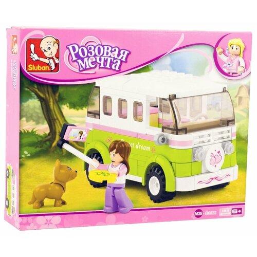 Купить Конструктор SLUBAN Розовая мечта M38-B0523 Туристический автофургон, Конструкторы