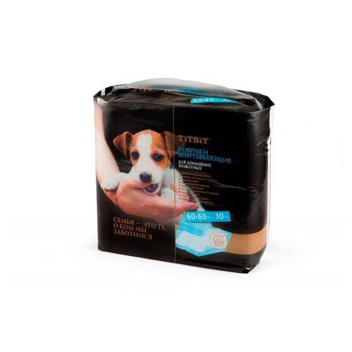Пеленки для собак впитывающие Titbit 008584/008591 60х60 см белый 30 шт.