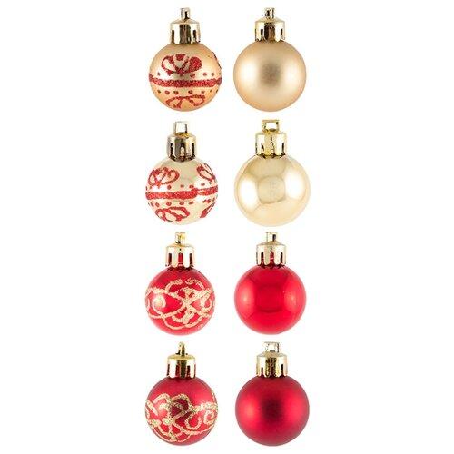 Фото - Набор шаров Волшебная страна 20-2, красный/золотистый, 20 шт. набор стеклянных шаров рождественские сны 60 мм 20 шт