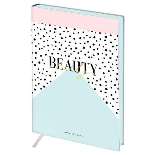 Ежедневник Greenwich Line Vision. Beauty недатированный, искусственная кожа, B6, 136 листов, белый/голубой