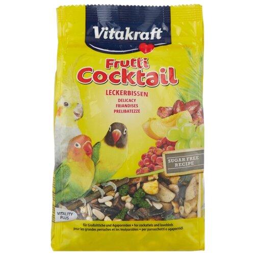 Добавка в корм Vitakraft для средних попугаев коктейль фруктовый 250 г vitakraft vitakraft menu корм для средних попугаев 1 кг