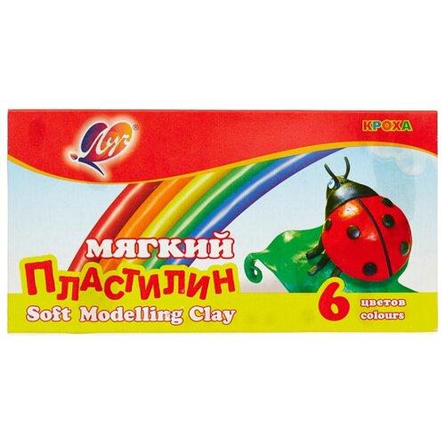 Купить Пластилин Луч Кроха 6 цветов (12С863-08), Пластилин и масса для лепки