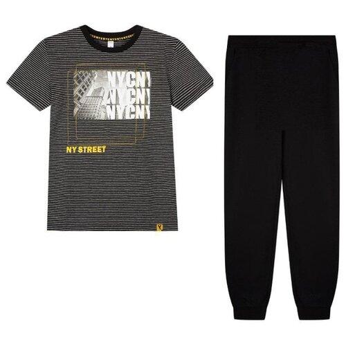 Комплект одежды playToday размер 140, серый/черный/оранжевый