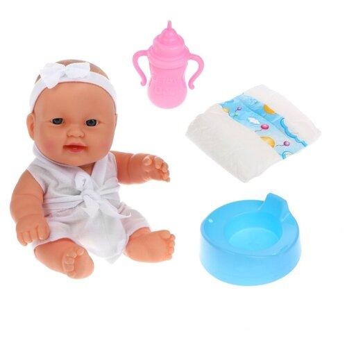 Купить Кукла Наша Игрушка Мой малыш, озвучка, пьет, писает, 3 предмета, Наша игрушка, Куклы и пупсы
