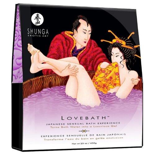 Купить Соль для ванны Lovebath Sensual lotus, превращающая воду в гель - 650 гр. фиолетовый, SHUNGA
