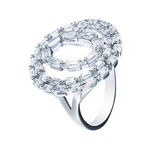 ELEMENT47 Кольцо из серебра 925 пробы с кубическим цирконием WR26236-BW_001_WG, размер 17