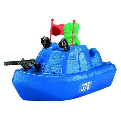 Купить Катер Форма Патриот с солдатиком (С-44-Ф) синий, Машинки и техника