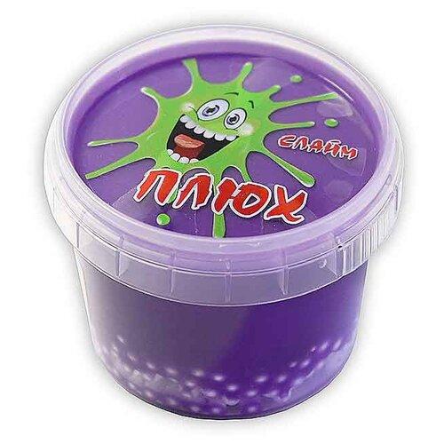 Лизун Плюх с шариками в тубе фиолетовый