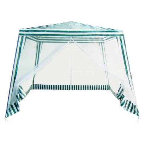 Шатер Greenhouse P-30 с москитной сеткой, 3 х 3 х 2.5 м зеленый/белый тент шатер с москитной сеткой gk 001b