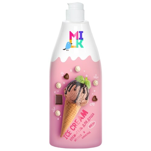 Крем-гель для душа MILK Ice Cream Молоко и шоколад, 800 мл недорого