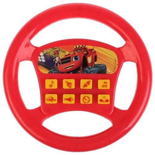 Купить Интерактивная развивающая игрушка Играем вместе Музыкальный руль (B1003051-R) красный, Развивающие игрушки