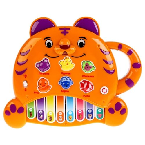 Купить Умка пианино B649976-R оранжевый, Детские музыкальные инструменты