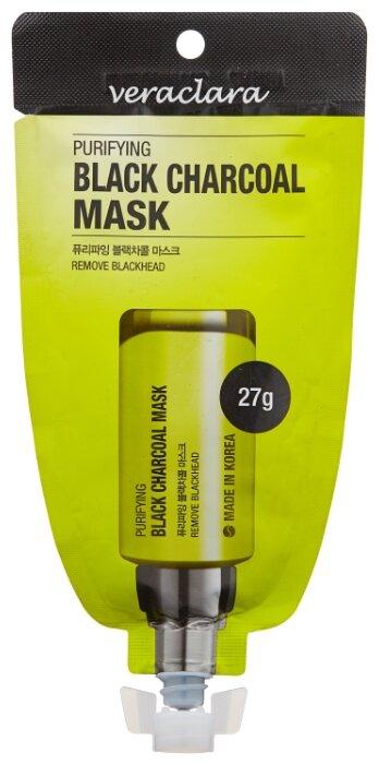 Veraclara маска пленка Purifying Black Charcoal Mask