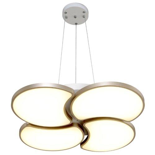 Люстра светодиодная Максисвет Панель 2-7310-4-WH+GL Y LED, LED, 48 Вт люстра максисвет геометрия 1 1696 6 cr y led