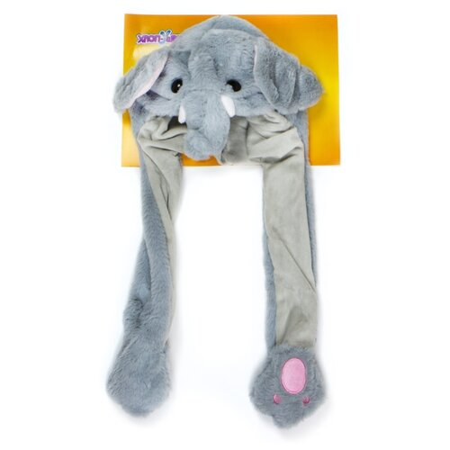 Купить Головной убор 1 TOY Хлоп-Ушки Слон (Т17631), серый, Карнавальные костюмы