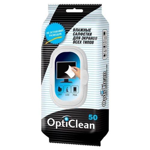 Фото - Салфетки Opti Clean №50 для всех типов экранов, с клапаном, 50 шт, 72015 салфетки opti clean 50 для всех типов экранов с клапаном 50 шт 72015