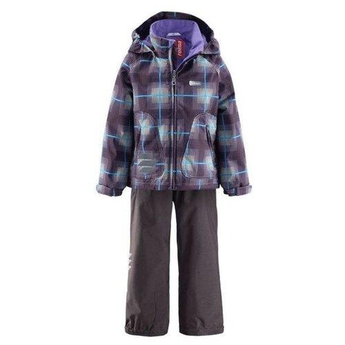 Комплект с полукомбинезоном Reima Holvi Lilac 523023-584 размер 122, серый/лиловый комплект одежды reima размер 122 melange grey
