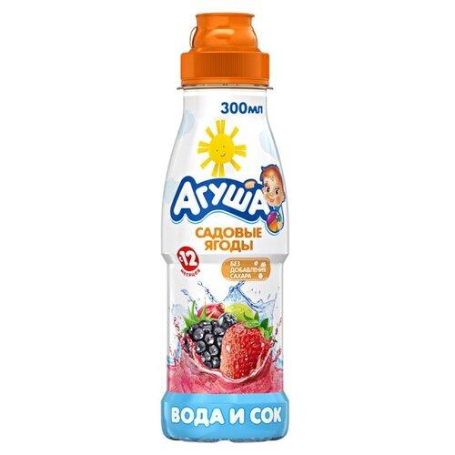 Напиток сокосодержащий Агуша Вода и Садовые ягоды, без сахара, 0.3 л