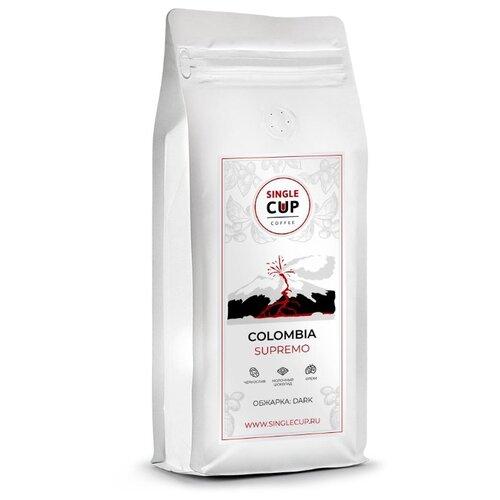 Фото - Кофе в зернах Single Cup Coffe Columbia Supremo, арабика, 1000 г cup