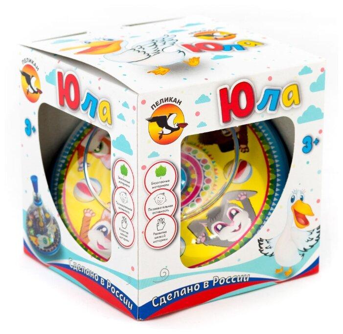 Юла Pelican Веселые зверята, в коробке (0206)