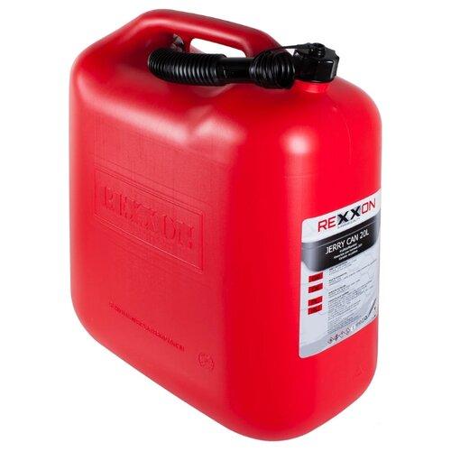 Канистра Rexxon 1-01-3-1-0, 20 л, красный канистра rexxon для топлива пластиковая с гибким шлангом 5 л