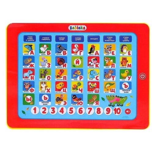 Купить Планшет Zabiaka Моя азбука (3567592) красный, Детские компьютеры