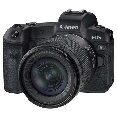 Фотоаппарат Canon EOS R Kit черный RF 24-105mm f/4-7.1 IS STM