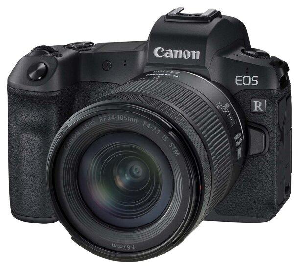 Фотоаппарат Canon EOS R Kit черный RF 24-105mm f/4-7.1 IS STM фото 1