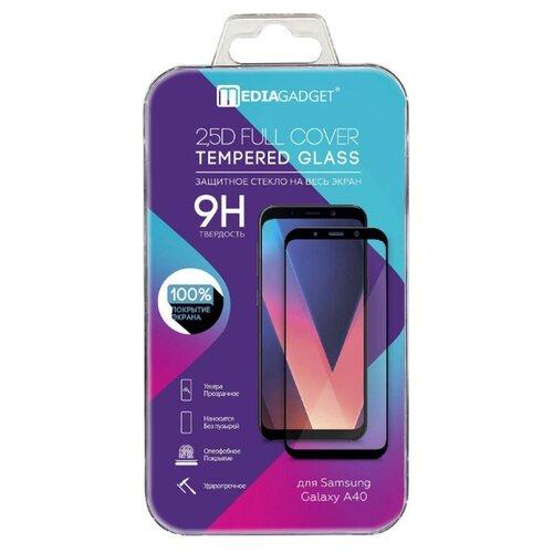 Защитное стекло Media Gadget 2.5D Full Cover Tempered Glass для Samsung A40 черный