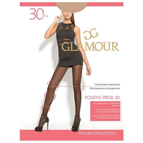 Колготки Glamour Positive Press 30 den, размер 2-S, daino (бежевый) колготки glamour glamour mp002xw125p8