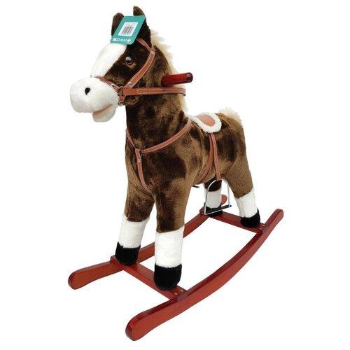 Купить Каталка-качалка Наша игрушка Лошадка WJ-065 белый/коричневый, Каталки и качалки