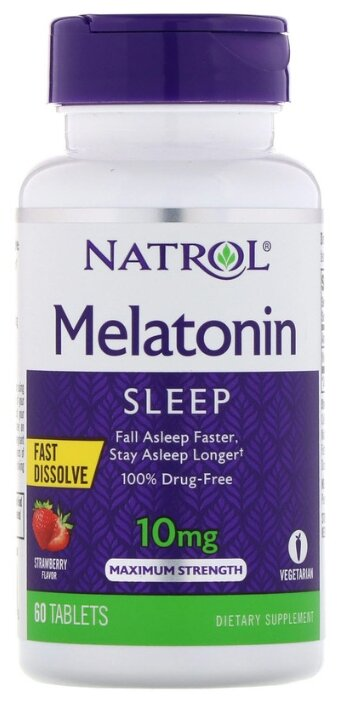 Мелатонин Natrol Melatonin 10 mg Fast Dissolve (60 таблеток)