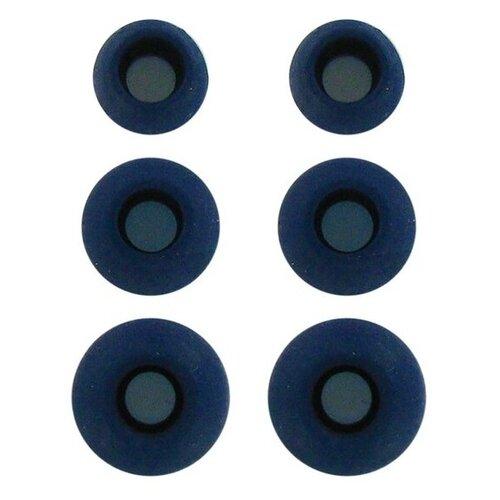 Комплект амбушюр Krutoff для наушников (3 пары размер S M L) синие